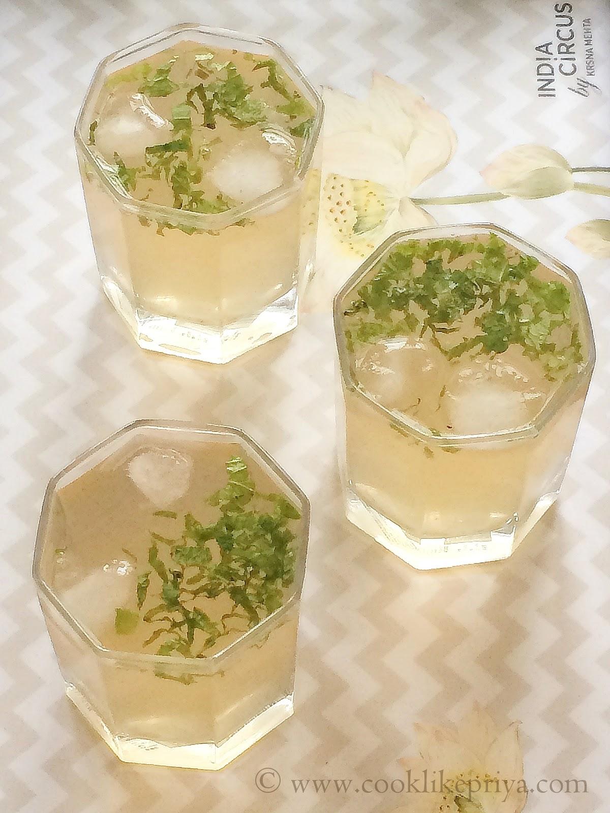 Iced Lychee Green Tea | Flavoured Green Tea Recipe | Summer Cooler ...