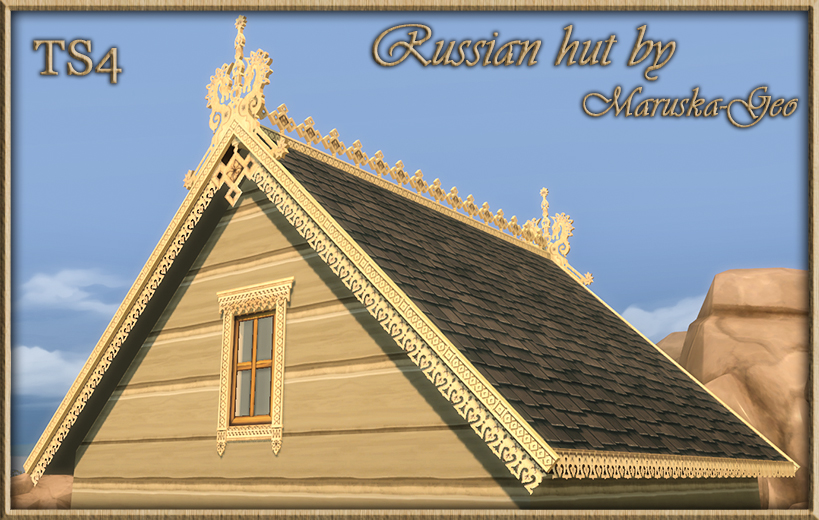 My Sims 4 Blog Russian House Roof Decorations Windows