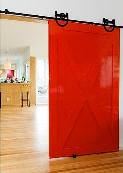 Bright As Yellow Interior Sliding Barn Doors