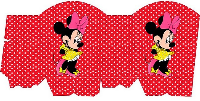 Minnie Red with Polka Dots: Free Printable Basket.