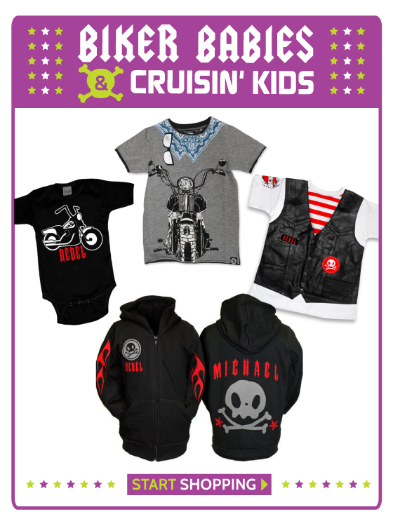 Motorcycle and Biker Clothing for Babies and Kids