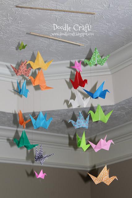 http://www.doodlecraftblog.com/2013/06/origami-flapping-paper-crane-mobile.html