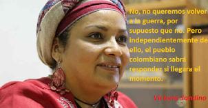 Victoria Sandino FARC - No a la guerra