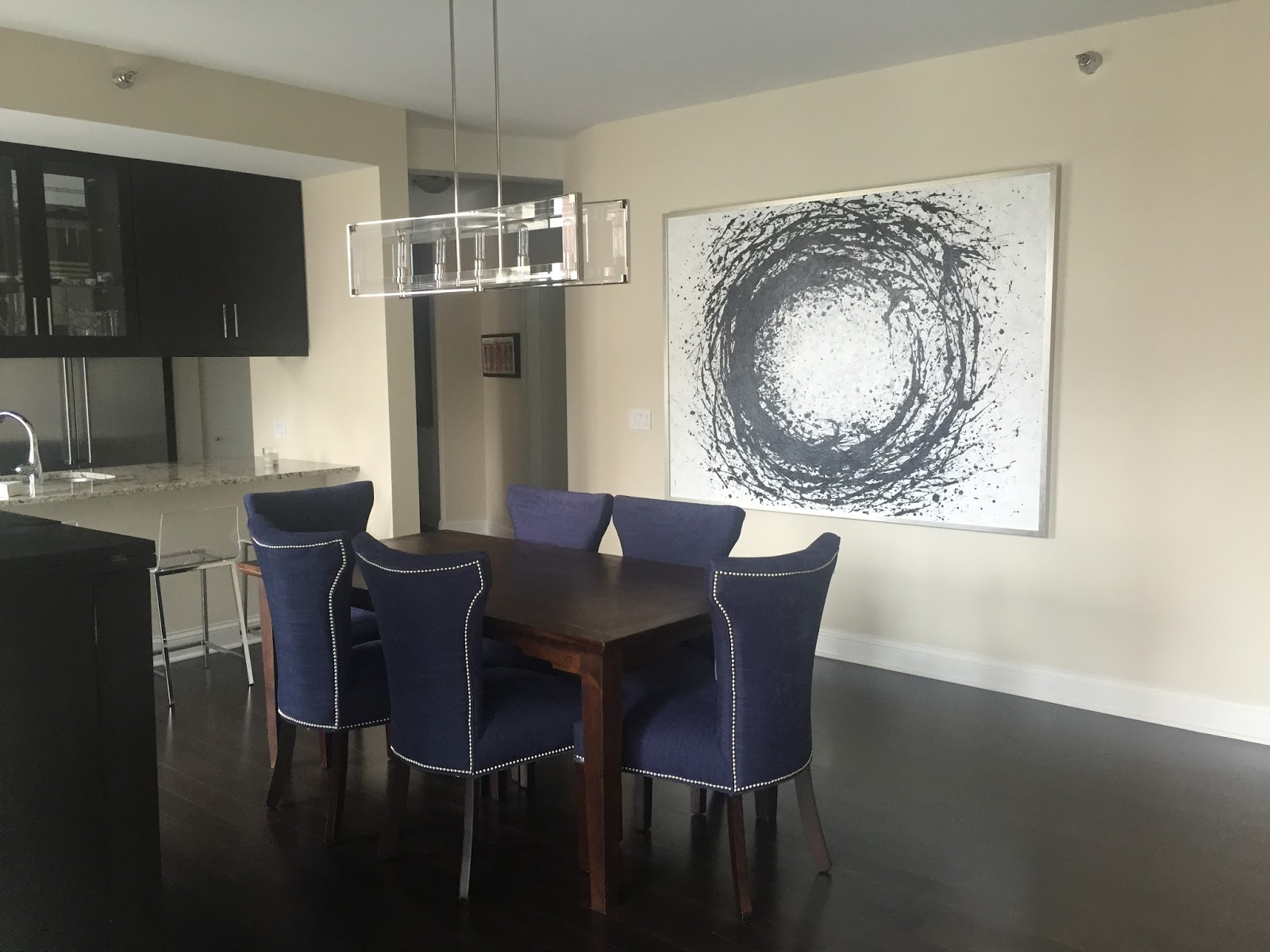 This Is The Dining Room As It Is Today After Updating Three Elements.