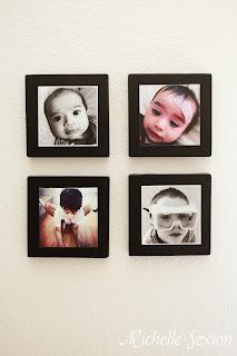 mounted instagram photo display