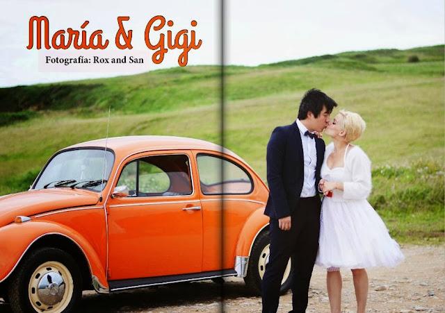 bodas originales boda años 50 naranja