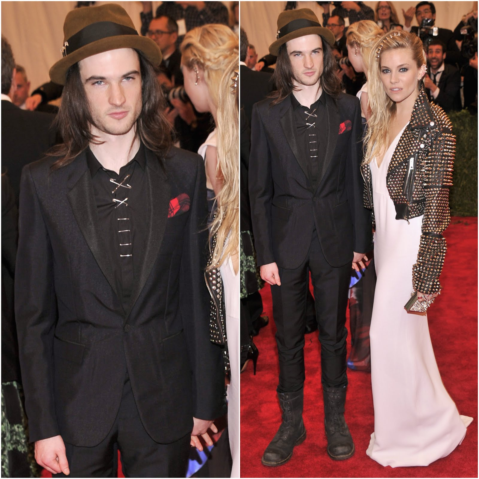 00O00 Menswear Blog: Tom Sturridge in Burberry - 'PUNK: Chaos To Couture' Costume Gala May 2013
