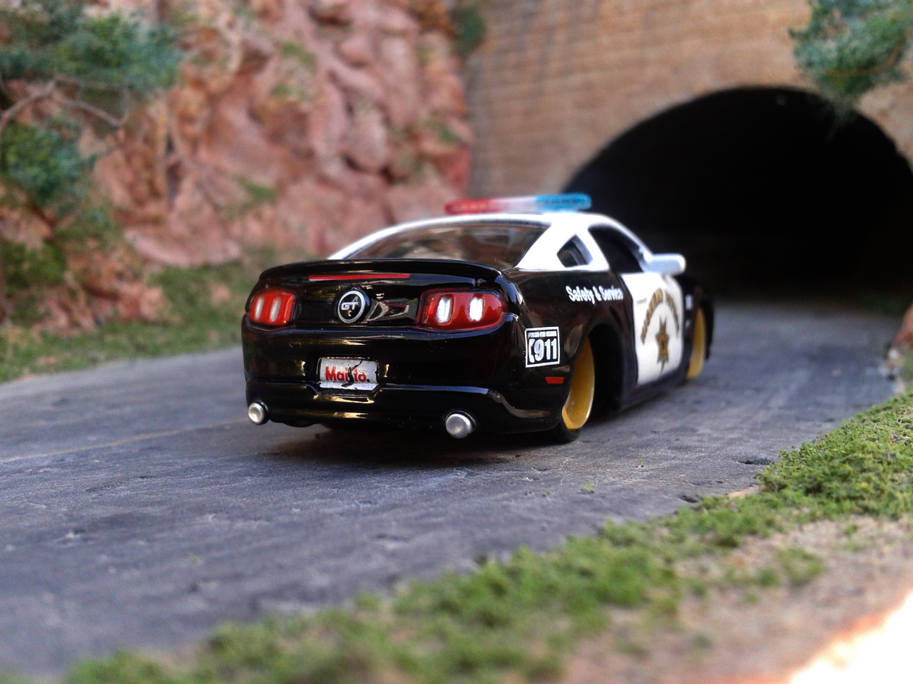 Ford Mustang Gt  Police Car