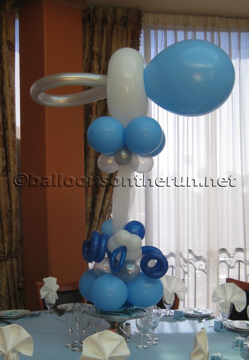Balloon designs pictures balloon bouquets for boy baby shower for Baby shower balloons decoration