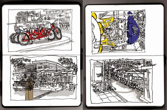 Pulau Ubin sketches