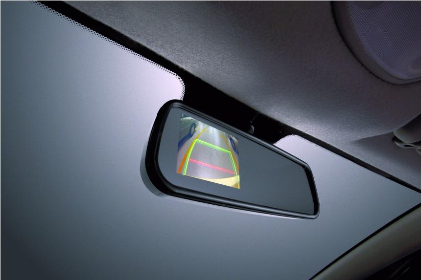 Reverse Camera Monitor pada Cermin pandang belakang
