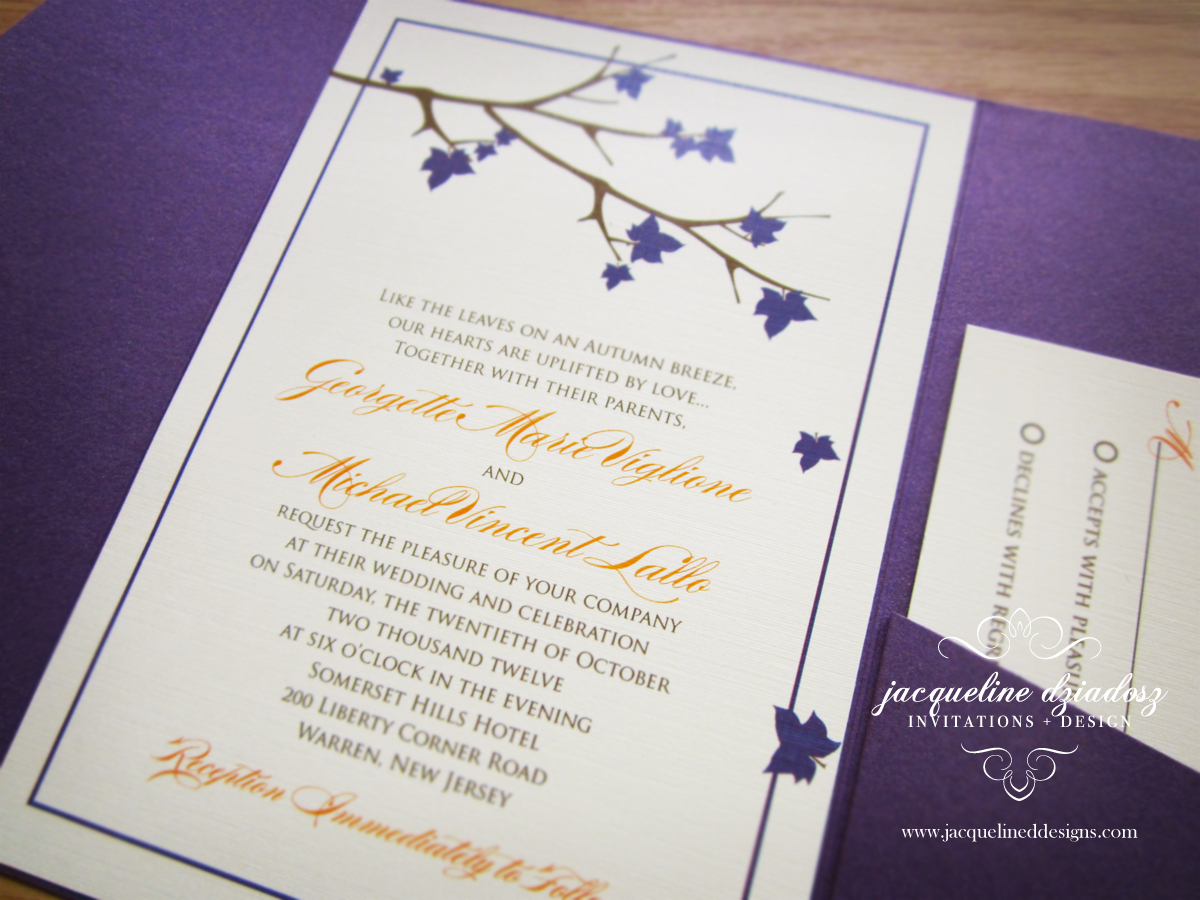 Fall Wedding Invitations | Jacqueline Dziadosz, Invitations & Design