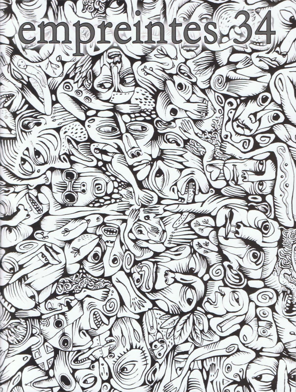 EMPREINTES N° 34, Revue d'art et de littérature, Éditions de L'Usine, Automne 2019