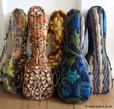 Original vintage fabric ukulele cases