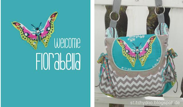 Florabella Tasche mit Schmetterling / Florabella bag pattern by jolijou