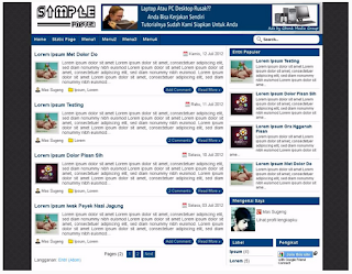 download template blog fast loading