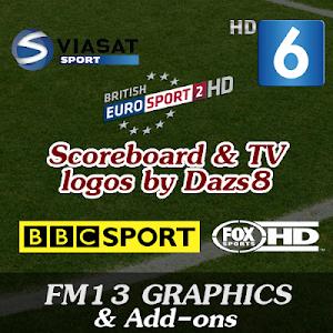FM13 Graphics Scoreboard and TV logos
