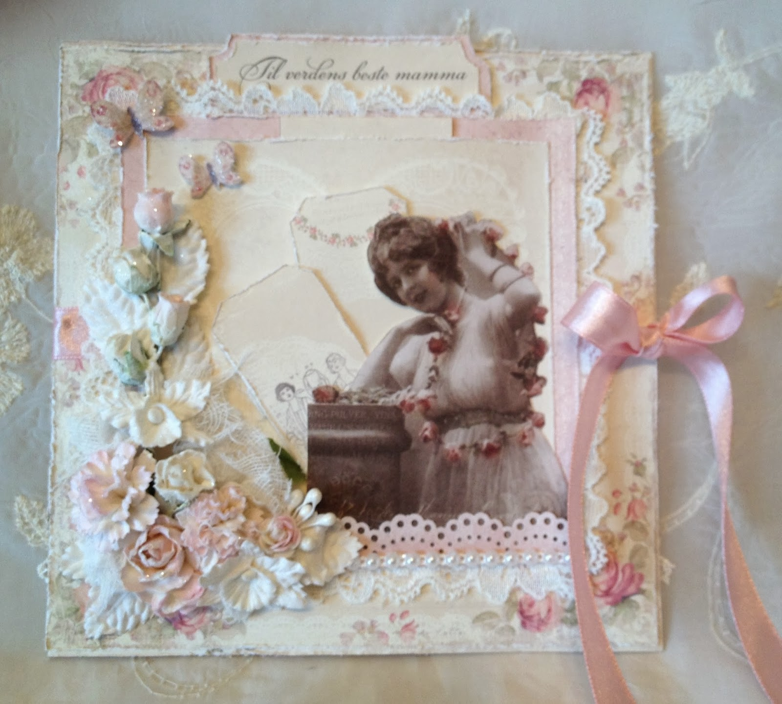 Annes Papercreations Girly And Feminine Card With Wild Orchid