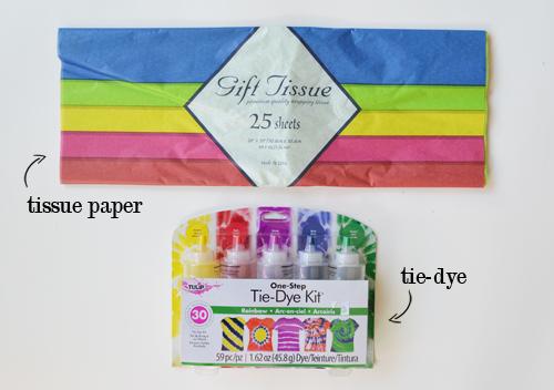 Tie dye computer paper