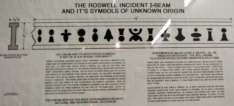 Roswell Incident IBeam & its symbols of unknown origin