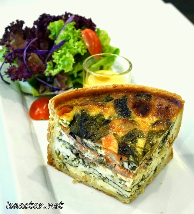 #4 Smoked Salmon and Spinach Quiche
