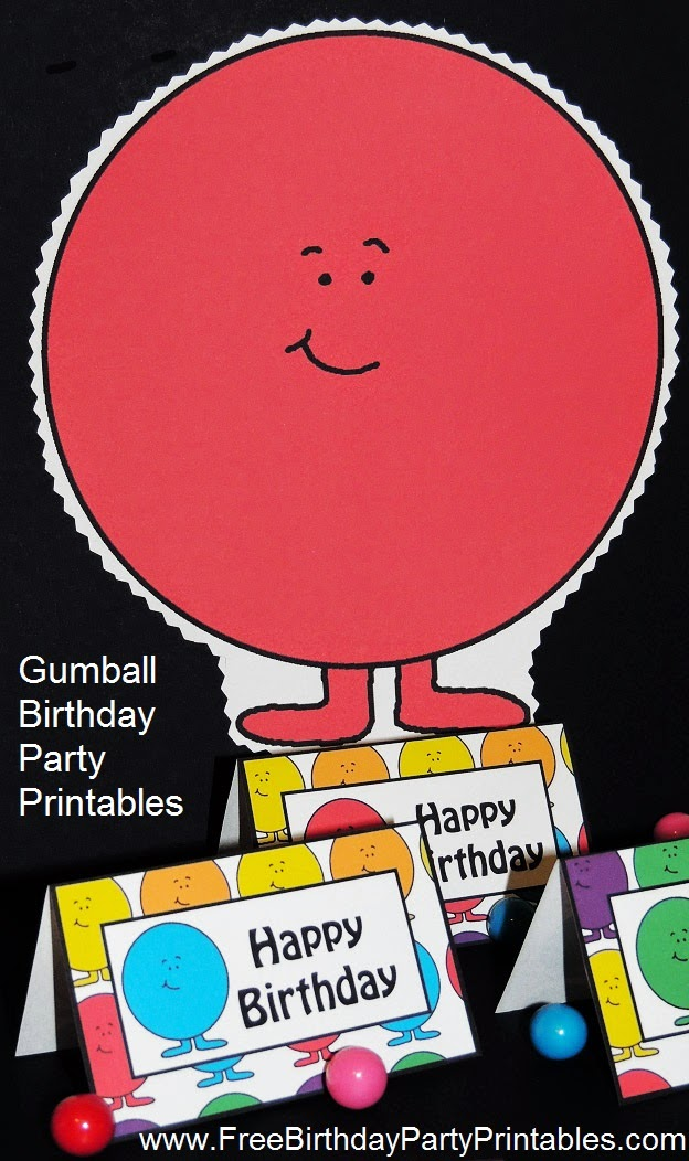 Free Gumball Birthday Party Printables