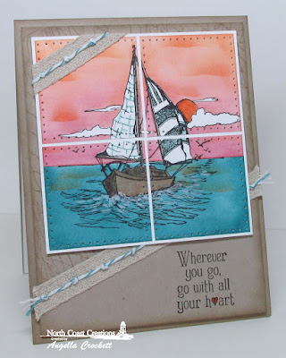 North Coast Creations Stamp sets: Sail Away, Our Daily Bread Designs Stamp sets: Fishing Net Background