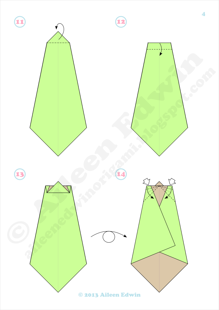 Origami Christmas Tree Diagrams Dual-Coloured (Aileen Edwin)