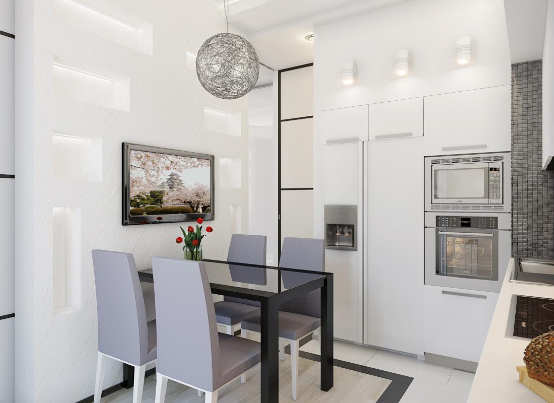 Кухня 7.2 кв м дизайн