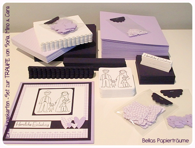 Bellas} Papierträume: Hochzeit + Taufe U003d Traufe, Einladung