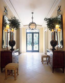 decoração de hall de entrada, hall de entrada, entrada da casa