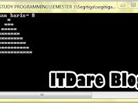 Program Segitiga Atas Dengan Konsep Looping