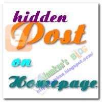 Ẩn bài viết ở trang chủ blogspot