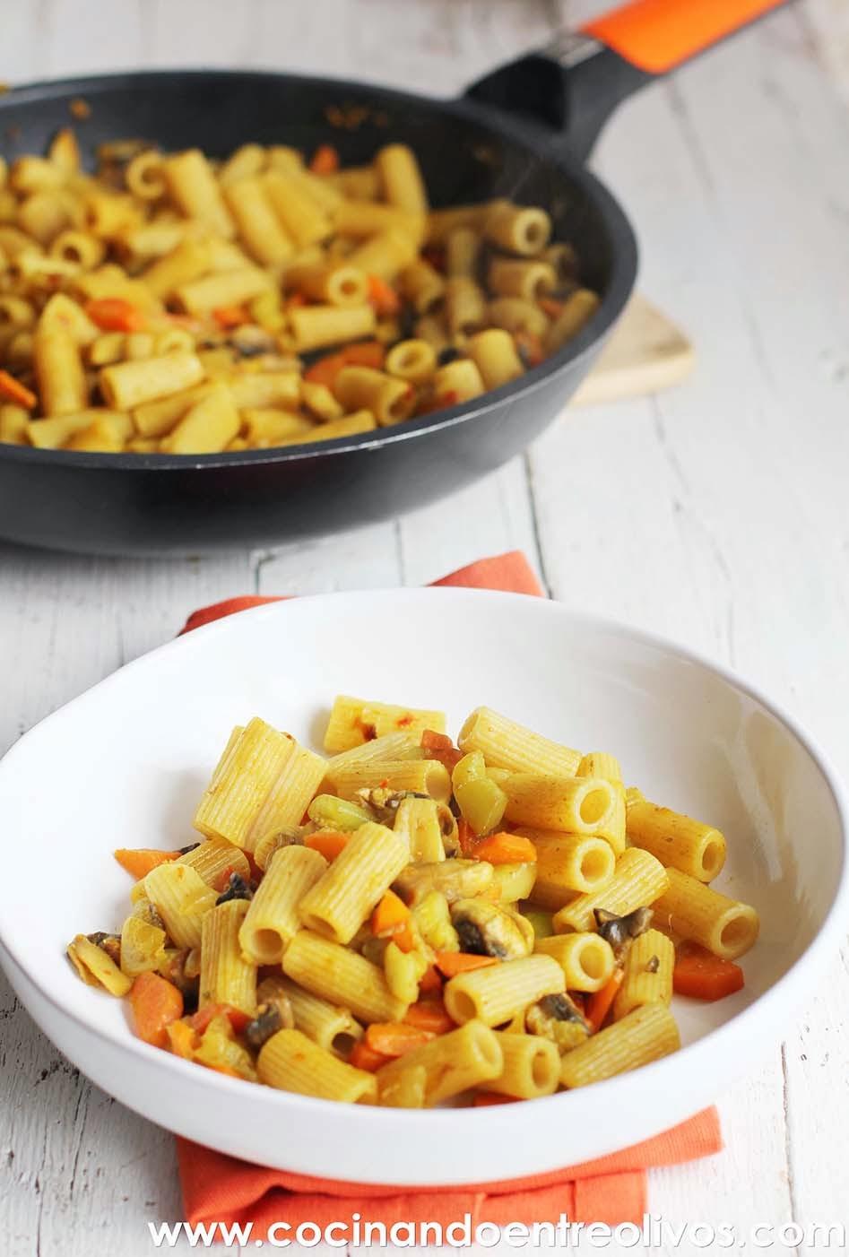 Cocinando entre olivos macarrones integrales con verduras - Cocinando entre olivos ...