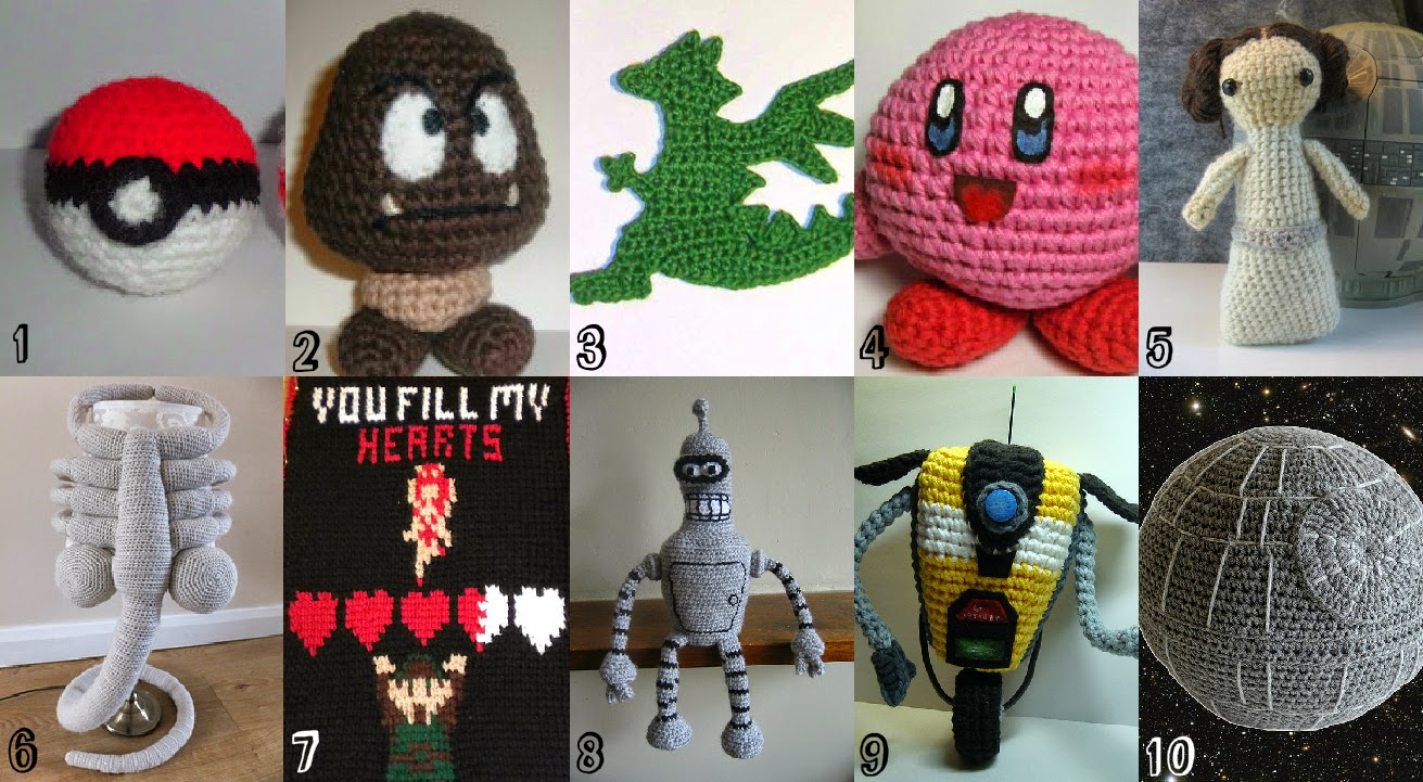 Star Wars, Nintendo, Mario, Zelda, Video Games, Claptrap, Aliens, Free Crochet Patterns