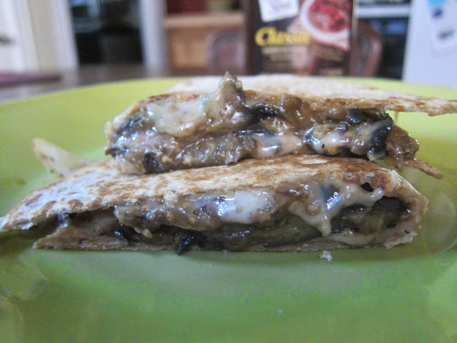 BBQ Mushroom and Eggplant Quesadillas | The Economical Eater