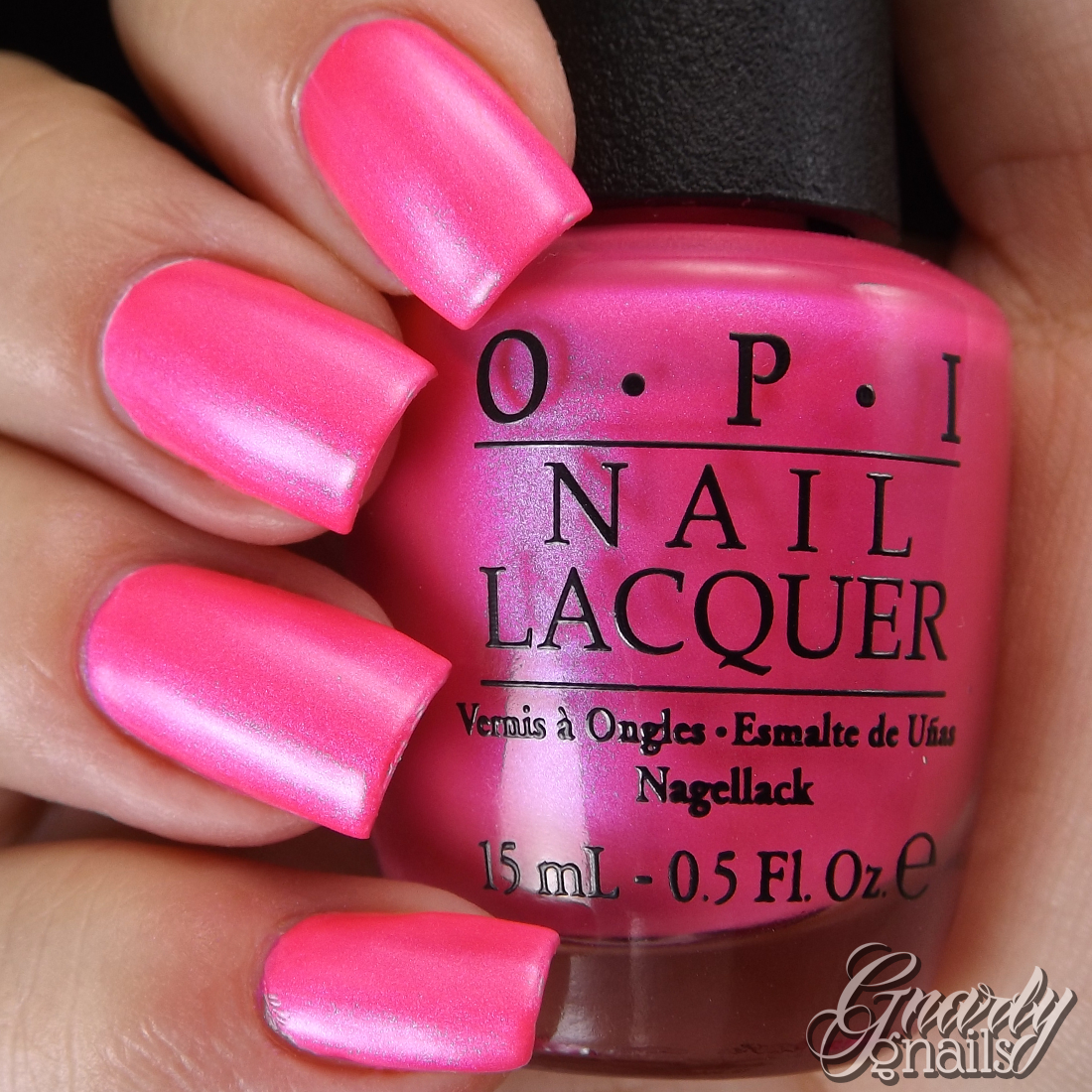 Neon Pink With Bluish Shimmer