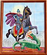 RETABLO DE SANT JORDI (VINARÒS). Panel de azulejos situado en Vinaròs, . (vinar sant jordi calle de arag )