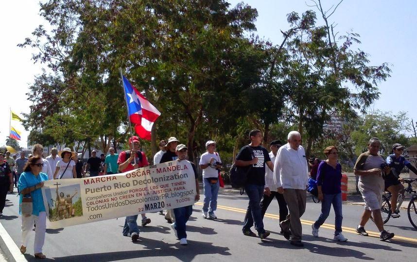 Primera Marcha Oscar - Mandela en Puerto Rico 2014