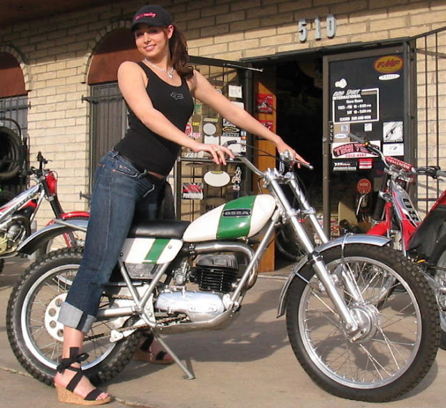 Subhanallah Girl With Vintage Off Road Bikes