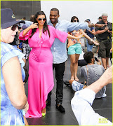 Kim Kardashian Pregnant dancing with kayne