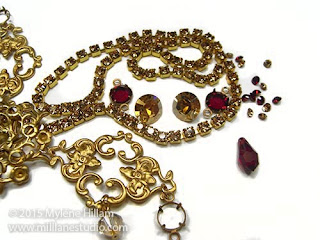Wedding jewellery components in Siam and Golden Shadow