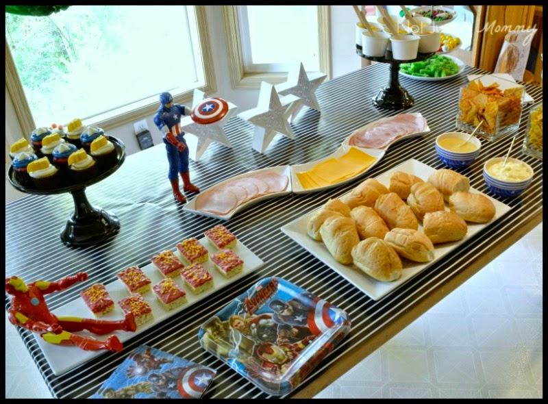 MARVEL Avengers: Age of Ultron Movie Marathon Party hero sandwich bar