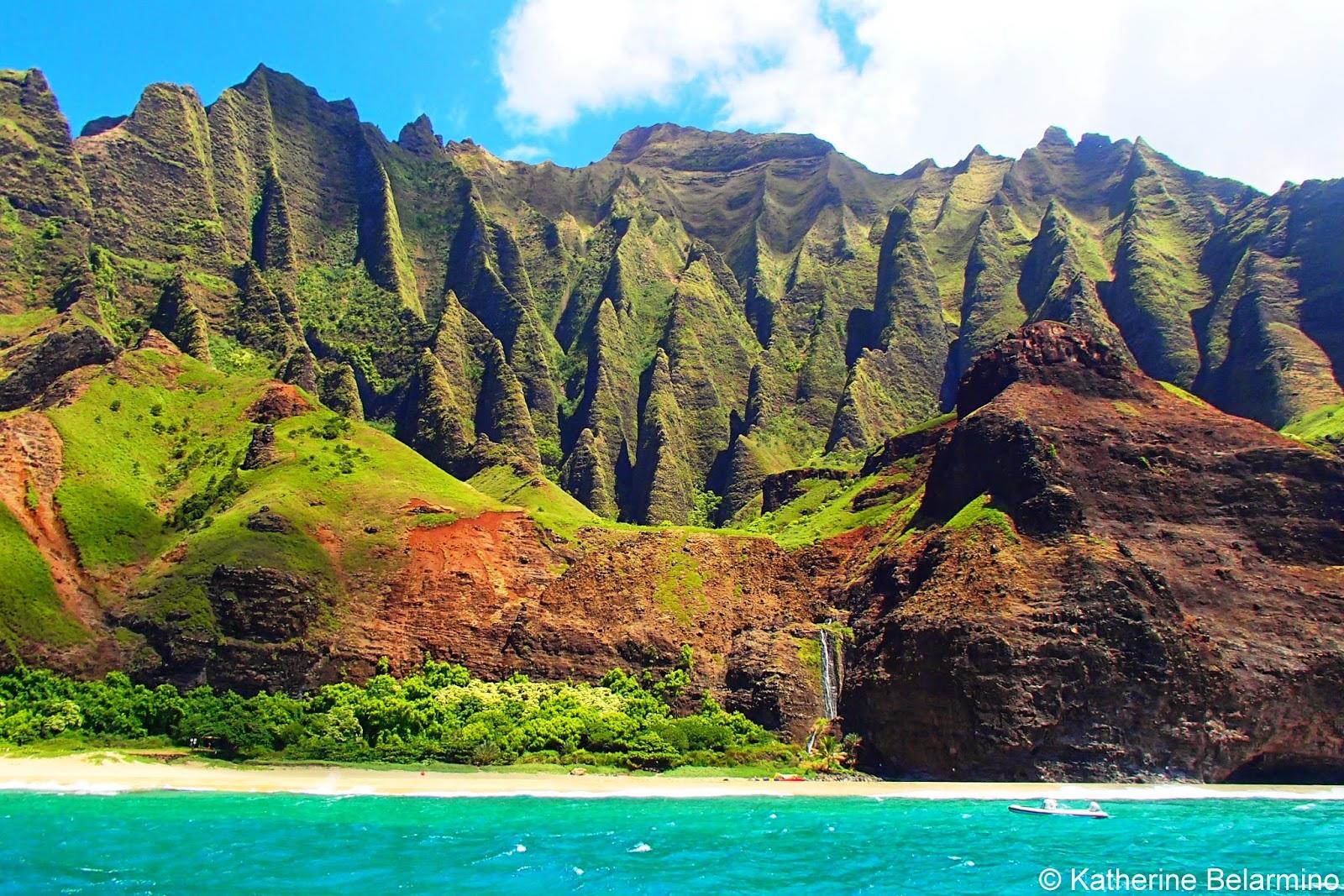 Honopu Beach, Na Pali Coast, Kauai, Hawaii, USA - Stockphoto