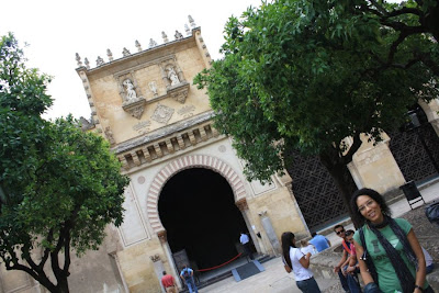 Courtyard of the Mosque of Cordoba in Spain