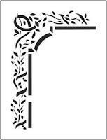 Leaves around stencil