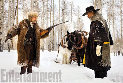 Samuel L. Jackson and Kurt Russell in The Hateful Eight