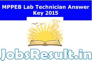 MPPEB Lab Technician Answer Key 2015