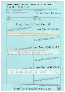"Crochet Lace Trim "" In Stock "" Manufacturer - Hong Kong Li Seng Co Ltd"