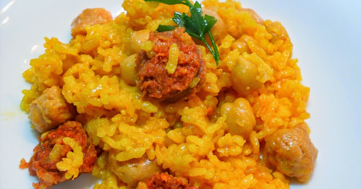 La chef de mi cocina arroz con chorizo y garbanzos - Tefal multicook pro recetas ...
